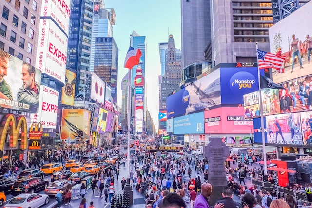 Times Square, a tourist trap.