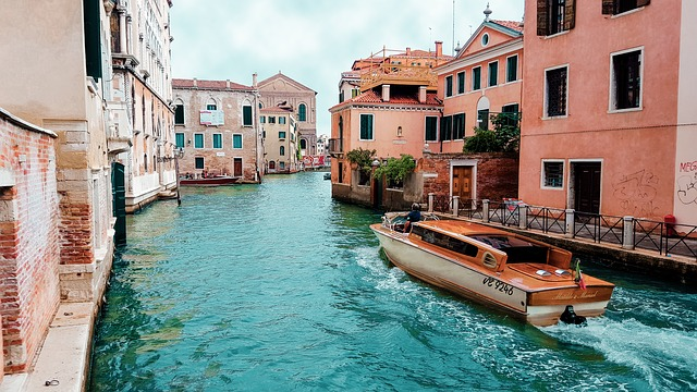 A Boat in a Venice Canal.