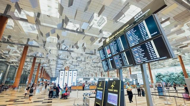 an airport terminal.