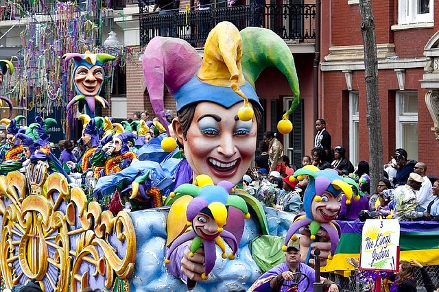 Mardi Gras parade in New Orleans.