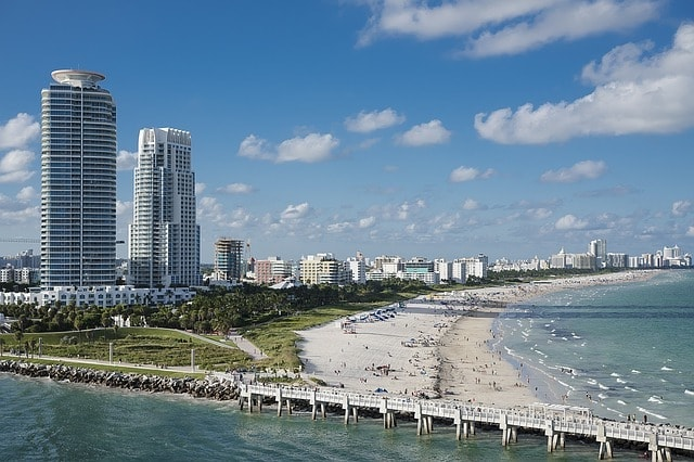 Miami South beach to see celebrities.