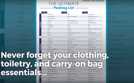 A Pre-Made Packing List