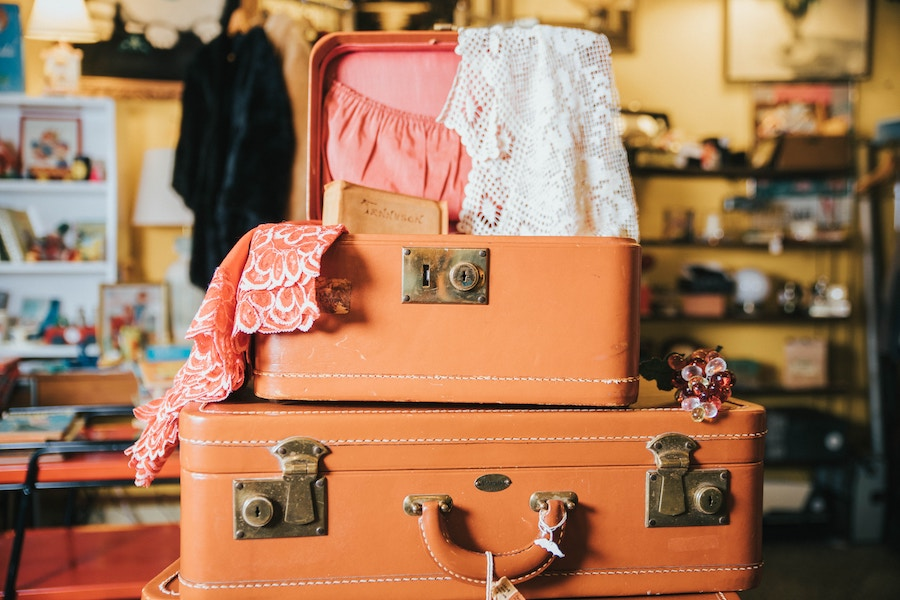 Use a colorful suitcase