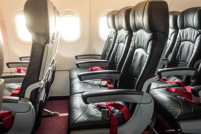 Seats on a long-haul plane.