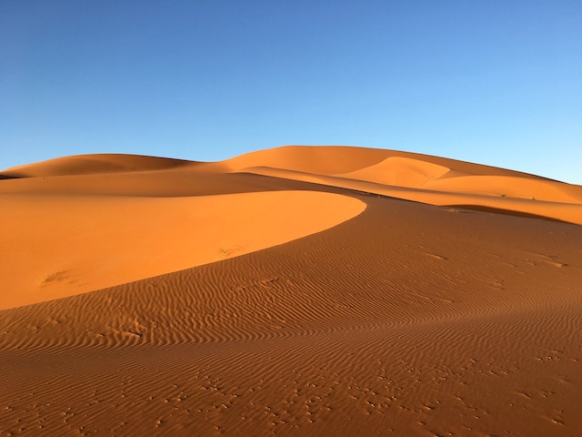 Erg Chebbi, one of the few landscapes in the world with picturesque sand dunes.