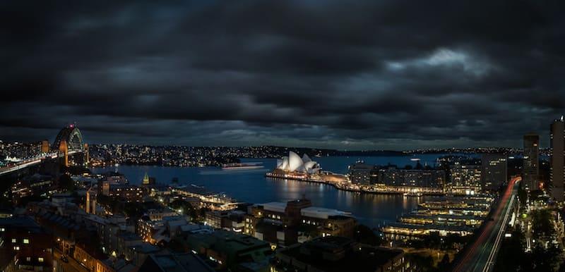 Sidney de noche